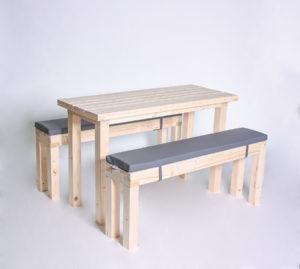 Sitzgarnitur KOMPAKT- Tischlänge 120cm - 6 Personen