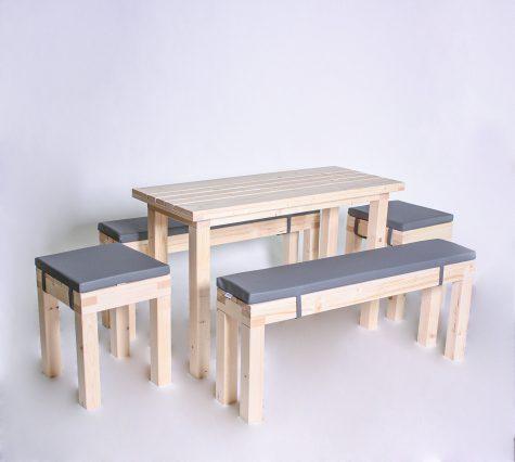 Sitzgarnitur KOMPAKT 8 Personen Tisch 120cm