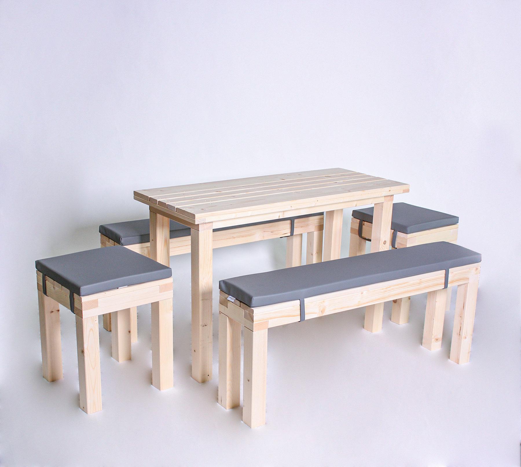 Sitzgarnitur KOMPAKT- Tischlänge 120cm - 8 Personen
