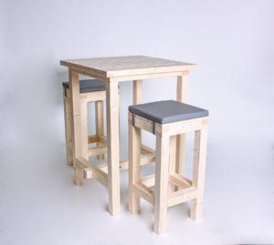 Stehgarnitur KOMFORT - Tischlänge 80cm - 2 Personen