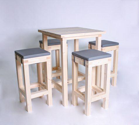 Stehgarnitur KOMFORT 4 Personen Tisch 80cm