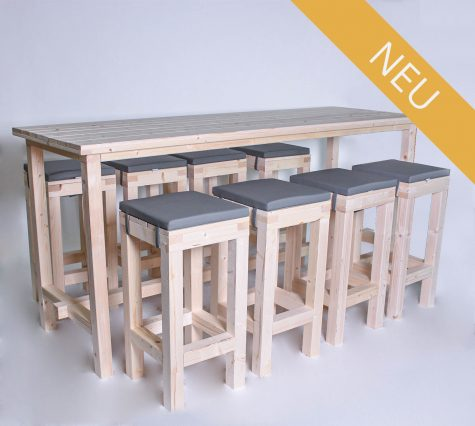Stehgarnitur KOMFORT 8 Personen Tisch 240cm kaufen