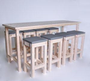 Stehgarnitur KOMFORT 8 Personen Tisch 240cm