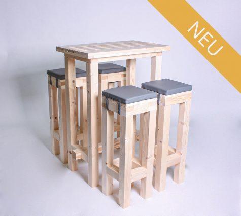 Stehgarnitur KOMPAKT 4 Personen Tisch 80cm