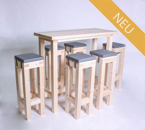 Stehgarnitur KOMPAKT 6 Personen Tisch 120cm