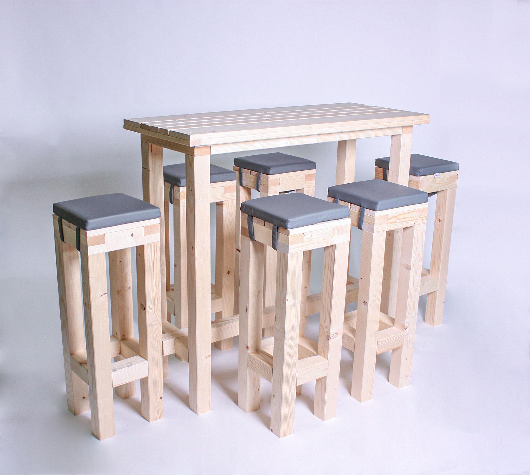 Stehgarnitur KOMPAKT - Tischlänge 120cm - 6 Personen - NEU