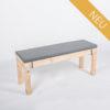 Sitzbank KOMFORT - Tischlänge 120 cm - mit Polster aschgrau - NEU