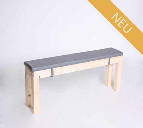 Sitzbank KOMPAKT - Länge 120 cm - mit Polster - NEU