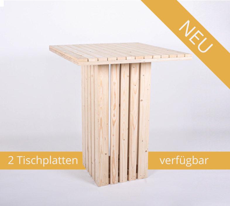 Bistrotisch KOMFORT - Korpus: eckig   Tischplatte: eckig - NEU