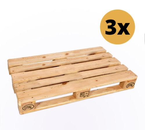 3er-Set Europaletten zum Möbelbau - Europaletten kaufen bei SUPERSACK