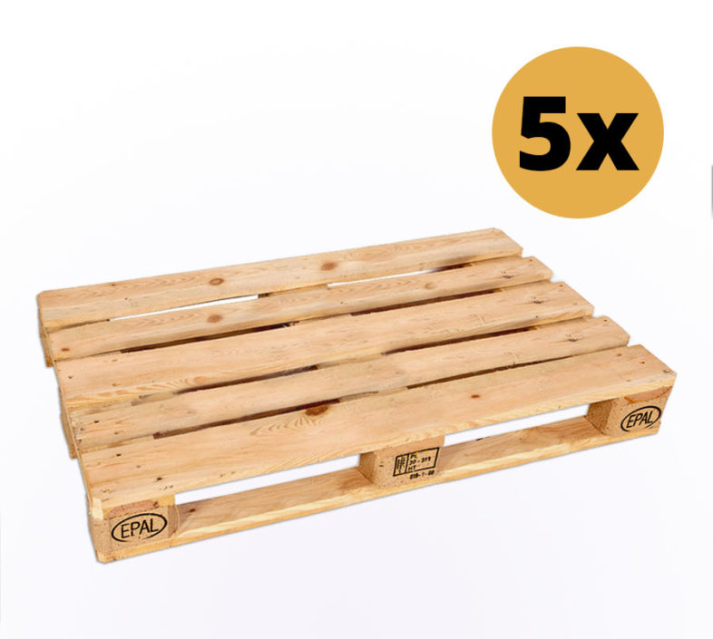 5er Set Europaletten zum Möbelbau - Europaletten kaufen bei SUPERSACK