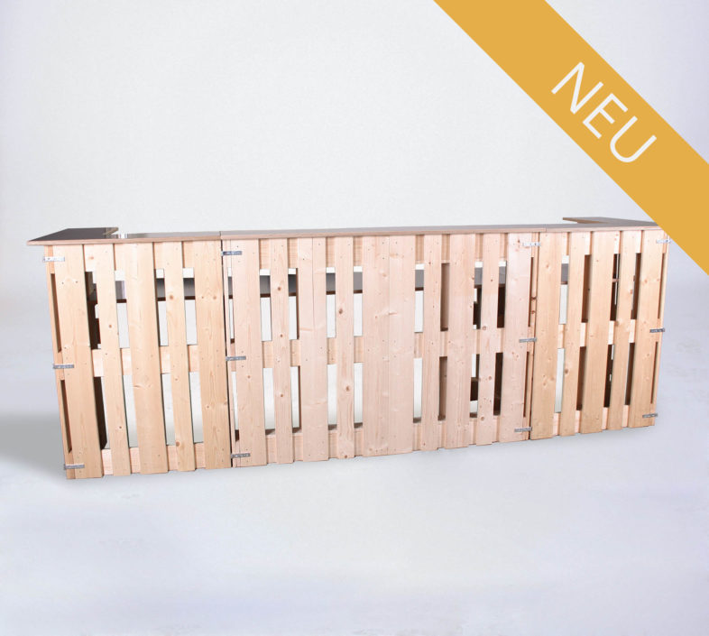 Paletten-Bar U-Form - Frontal - NEU