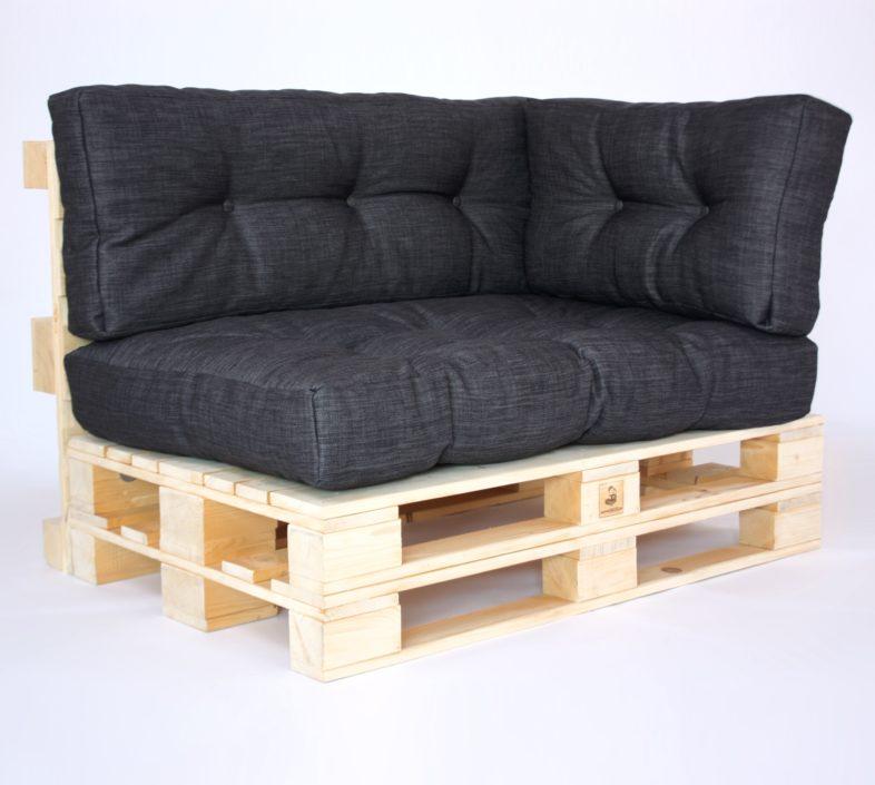 Palettenkissen Gesteppt Brooks - Sitzkissen, Rückenkissen & Seitenkissen - Dark Grey