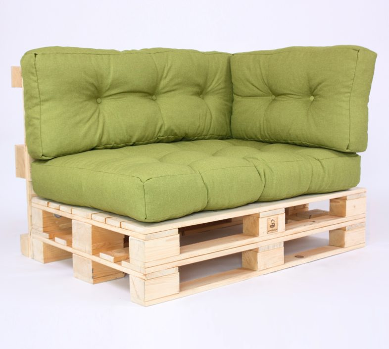 Palettenkissen Gesteppt Savana - Sitzkissen, Rückenkissen & Seitenkissen - Green
