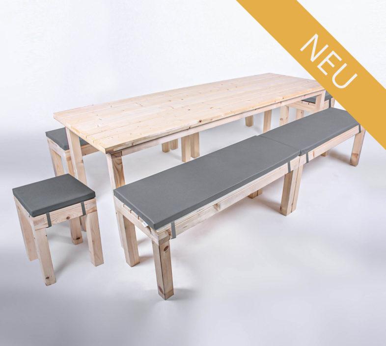 Sitzgarnitur KOMFORT - 240 cm Tischlänge - für 14 Personen - NEU