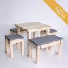 Sitzgarnitur KOMFORT - 80 cm Tischlänge - für 6 Personen - NEU