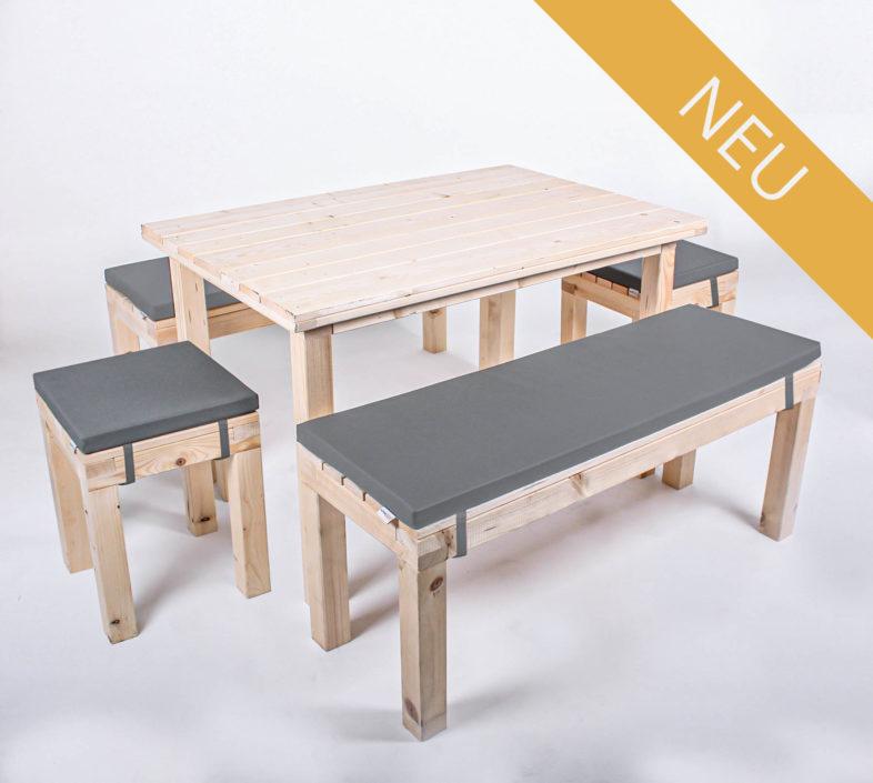 Sitzgarnitur KOMFORT - Tischlänge 120 cm - 8 Personen - NEU