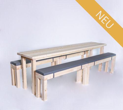 Sitzgarnitur KOMPAKT - 240 cm Tischlänge - für 12 Personen - NEU