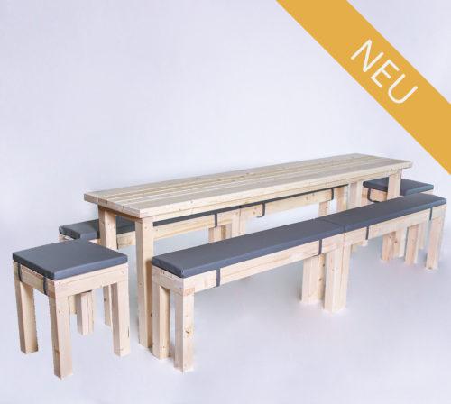 Sitzgarnitur KOMPAKT - 240 cm Tischlänge - für 14 Personen - NEU
