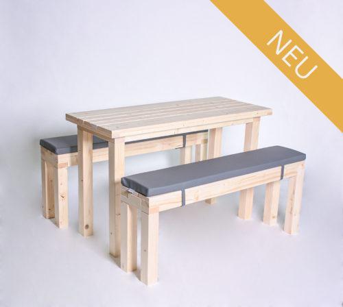 Sitzgarnitur KOMPAKT - 120 cm Tischlänge - für 6 Personen - NEU