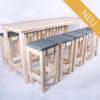 Stehgarnitur KOMFORT - 240 cm Tischlänge - für 10 Personen - NEU