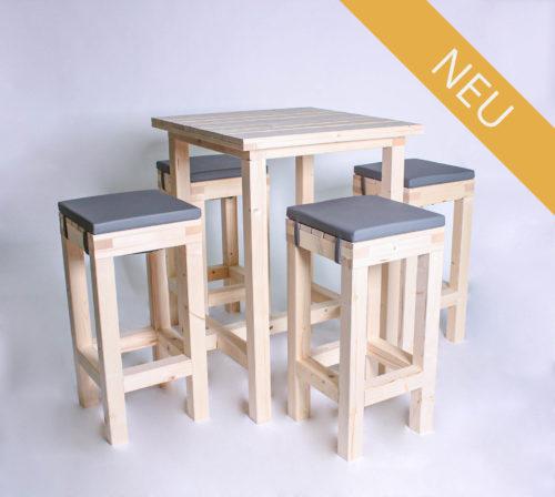 Stehgarnitur KOMPAKT - 80 cm Tischlänge - für 4 Personen - NEU