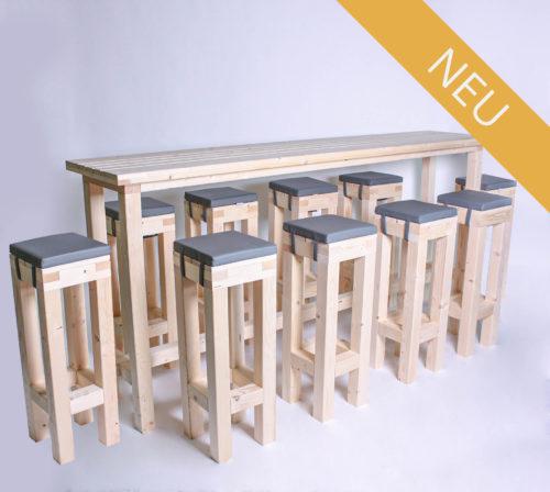 Stehgarnitur KOMPAKT - 240 cm Tischlänge - für 10 Personen - NEU