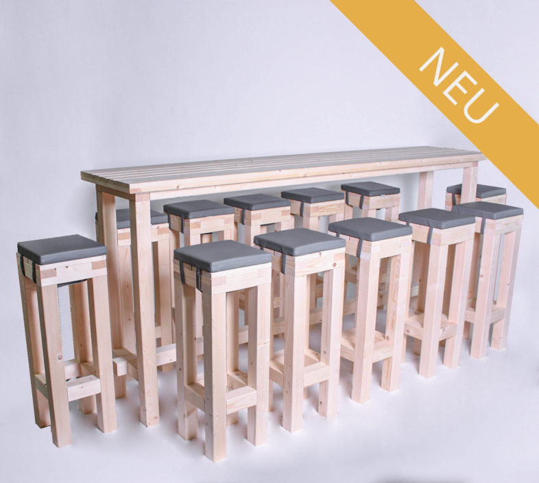 Stehgarnitur KOMPAKT - 240 cm Tischlänge - für 12 Personen - NEU