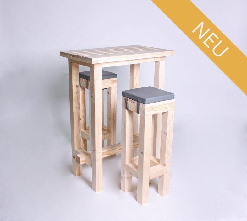 Stehgarnitur KOMPAKT - 80 cm Tischlänge - für 2 Personen - NEU