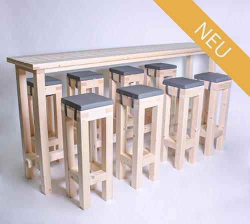 Stehgarnitur KOMPAKT - 240 cm Tischlänge - für 8 Personen - NEU