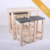Stehgarnitur KOMFORT - Tischlänge 120 cm - 4 Personen - NEU