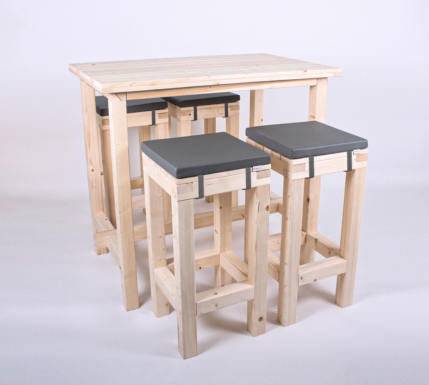 Stehgarnitur Komfort 4 Personen Tisch 120cm Supersack De