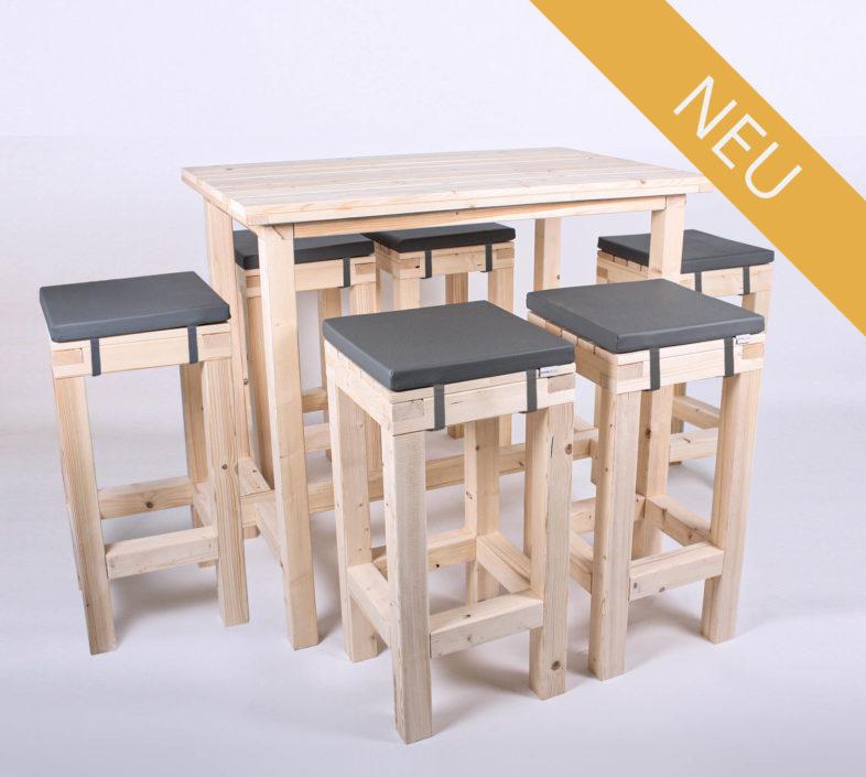 Stehgarnitur KOMFORT - Tischlänge 120 cm - 6 Personen - NEU