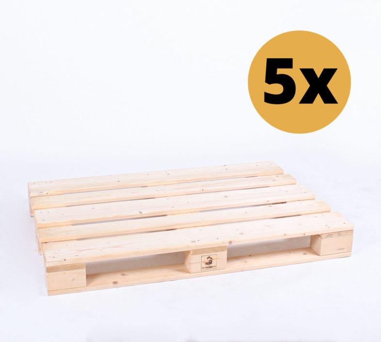 5er-Set Möbelpaletten | Hochwertige Paletten zum Möbelbau von SUPERSACK