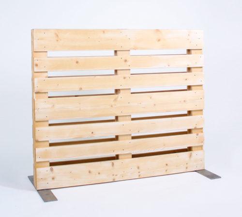 Paletten-Trennwand - Offen - 1,00m
