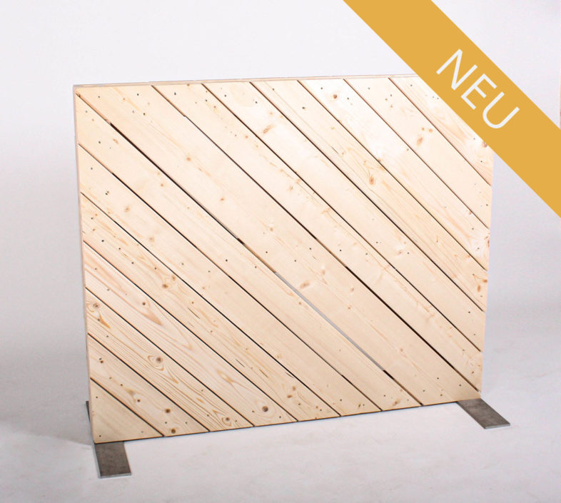 Paletten-Trennwand - Diagonal Blickdicht - 1,00m - NEU