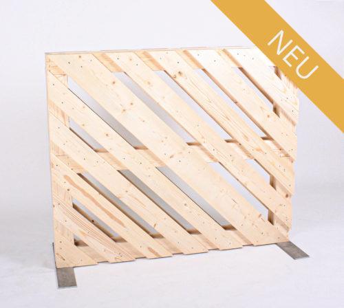 Paletten-Trennwand - Diagonal Offen - 1,00m - NEU