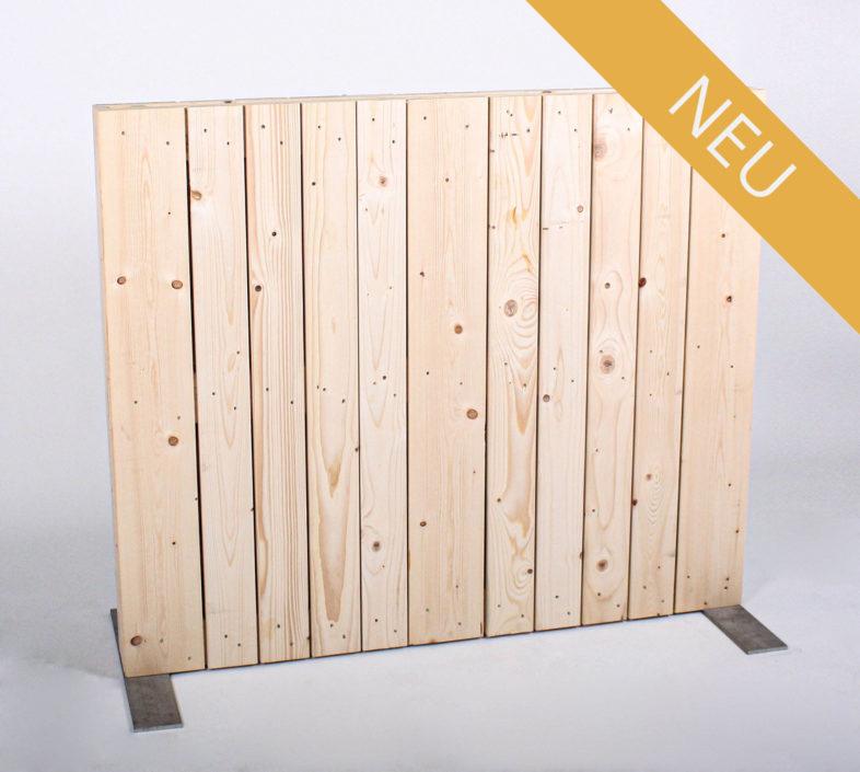 Paletten-Trennwand - Vertikal Blickdicht - 1,00m - NEU
