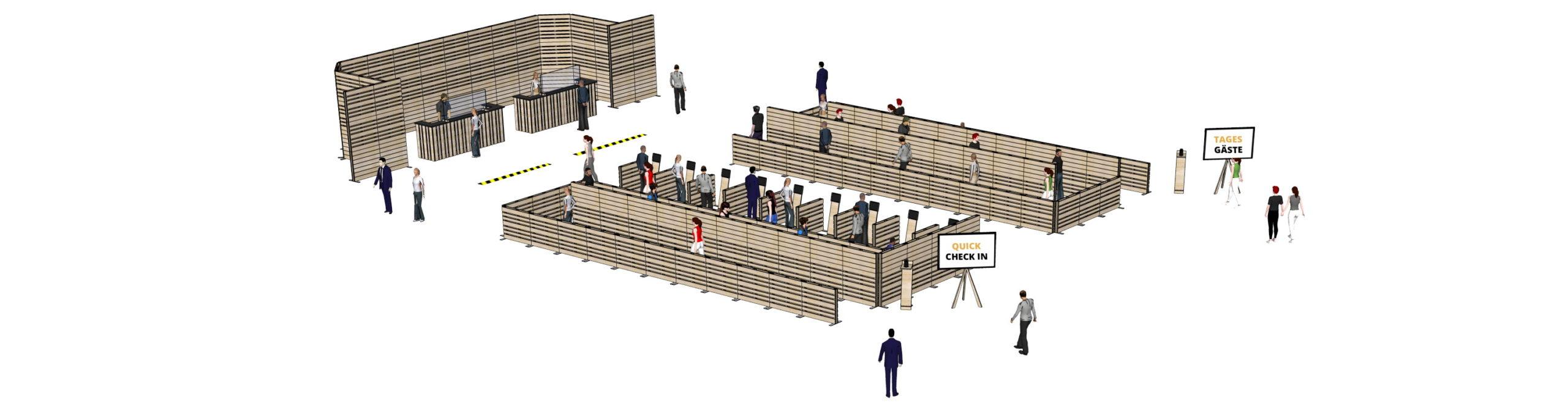 Besucher-Leitsysteme - Messebau bei SUPERSACK