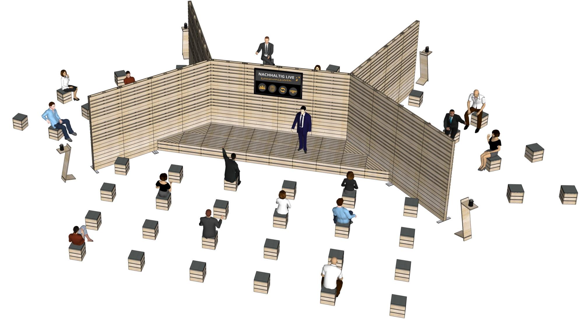 Konferezbereiche - Messebau bei SUPERSACK