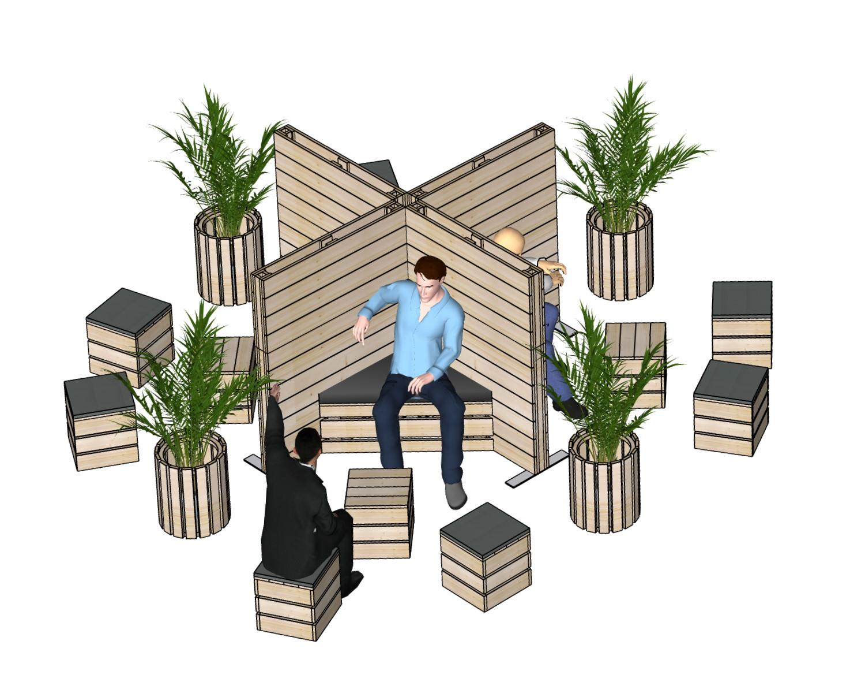 Sitzbereiche - Messebau bei SUPERSACK