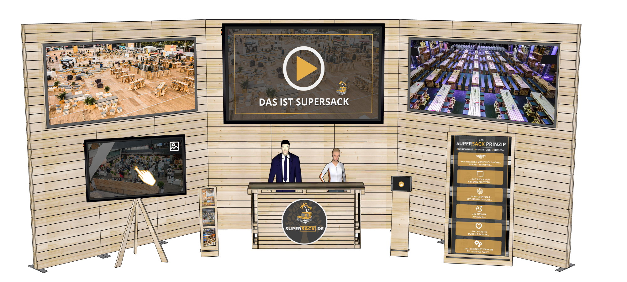 Virtueller Messestand L - Messebau bei SUPERSACK